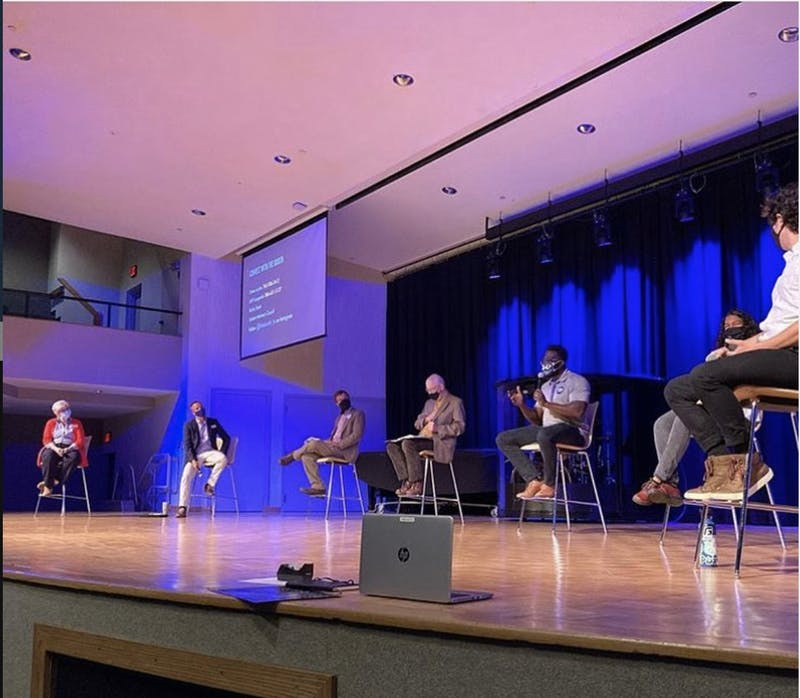 Julie Borkin, Joel Olufowote, Jakob Miller, Jeff Groeling and Bill Ringenberg were participants in the panel.