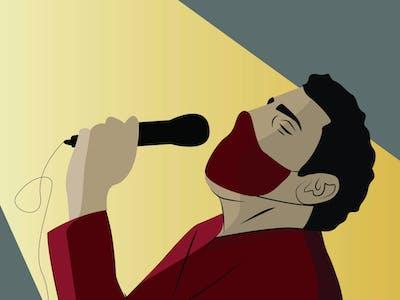 covid music scene impact illustration