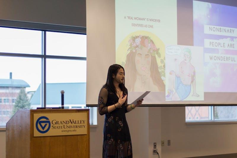 GVL / Dylan McIntyre. Monday, April 2nd, 2018. Alex Jenny presentation kicking off Sexual Assault Awareness Week.