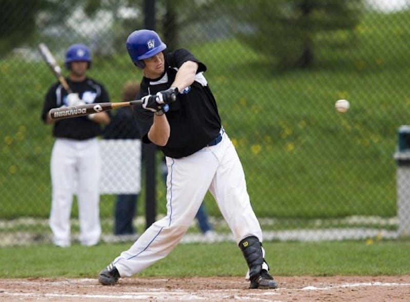 Courtesy Photo / GVSU AthleticsJunior Jared Cowan takes aim at a pitch