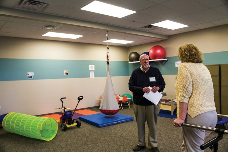 GVL / Sara CarteGrand Valley, Calvin College, and Western Michigan University open their new rehabilitation center with a new gym for physical therapy on Sept. 29.