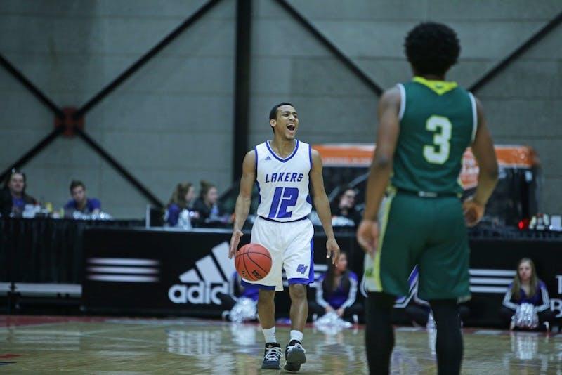 GVL / Emily Frye Men's Basketball vs Wayne State University at the DeltaPlex Arena on Thursday February 8, 2018.