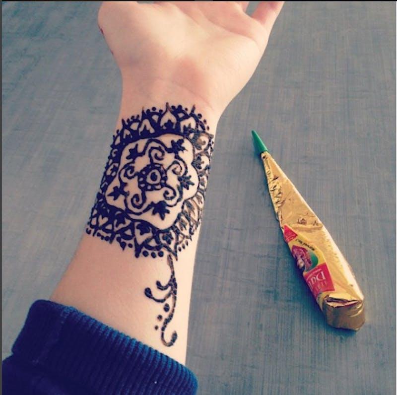 GVL / Courtesy - Lyndsie HosangLyndsie Hosang practices henna during the summer time