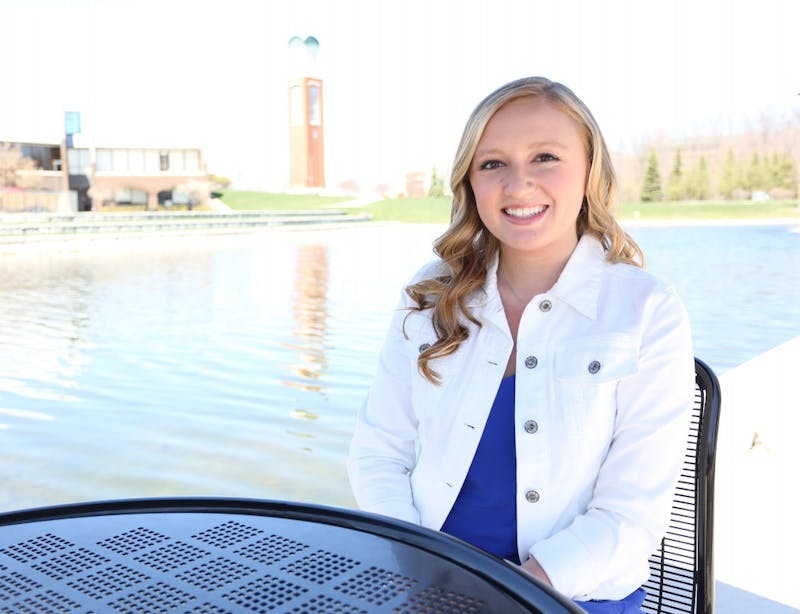 GVL/Kevin SielaffMaddie Cleghorn is elected Student Senate president Thursday, April 9, 2015 during the Student Senate cabinet elections. The elections are held annually in order to choose correct leadership to move the student body forward in the coming year.