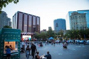 GVL / Matt Read    Opening Day Festivities in Downtown, Grand Rapids on Thursday, September 20th, 2017.