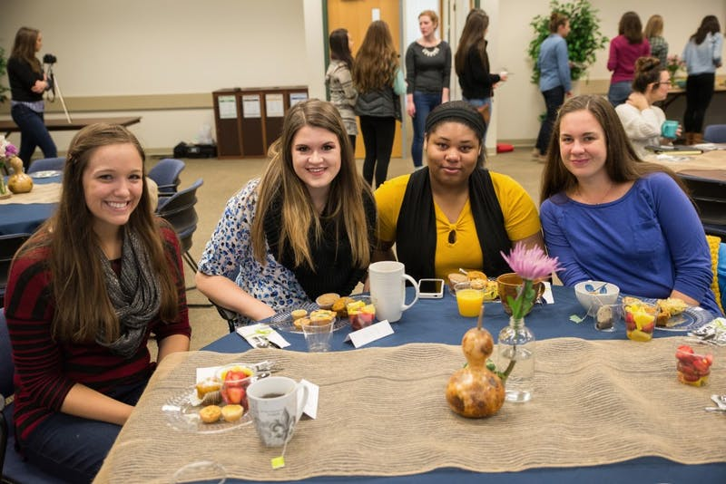 GVL/Luke Holmes - The Raw Beauty Initiative student organization holds a meeting in Kirkhof on Thursday, Oct. 15, 2015.