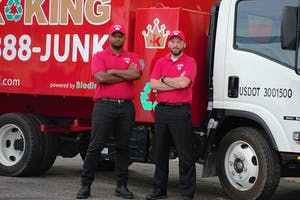 Alumnus Joe Howard III (left) and Kevin Schultz.  Courtesy / Junk King