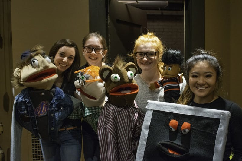 Students from Grand Valley put on a puppet show at the film festival. GVL / Andrew Nyhof