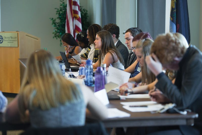 GVL / Luke Holmes - Student Senate held their first meeting of the year in the Pere Marquette Room Thursday, Sep. 1, 2016.