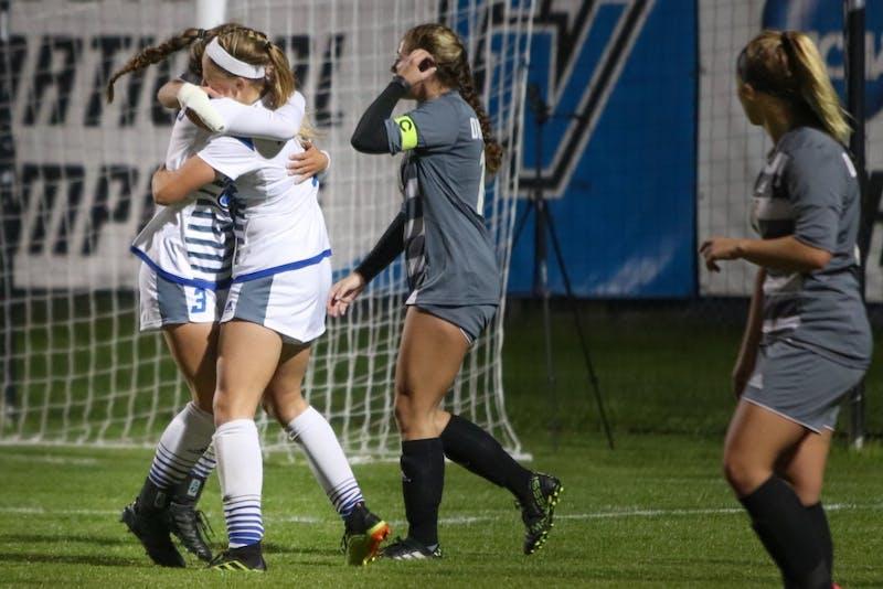 GVSU Soccer vs. Davenport,10/26/18, GVSU Soccer Filed. GVL/Katherine Vasile