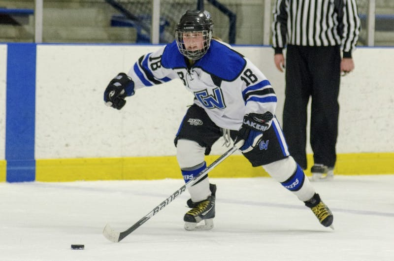 GVL/Bo AndersonKatie Danto brings the puck down the wing during a previous matchup at Georgetown Ice Arena.