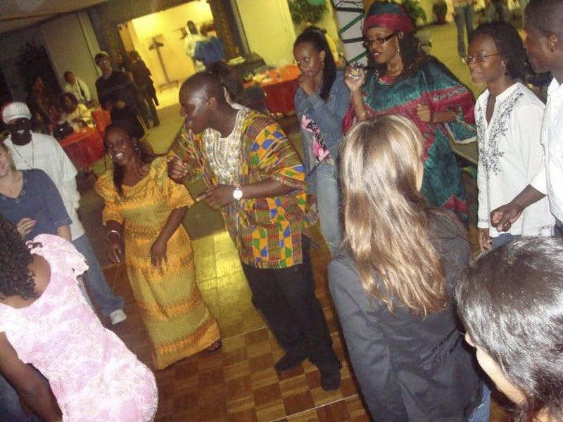 Courtesy Photo / Patricia Guobadia GVSU's African Student Council celebrates at a past African Diaspora event.