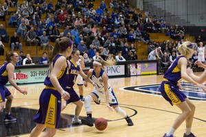 GVL / Dylan McIntyre. Thursday, February 15, 2018. Grand Valley Womens Basketball against Ashland.