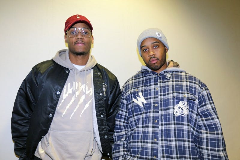 GVL / Emily Frye   John Hall (left) and Duane Lewis (right) pose for a photo in their Wild Boyz apparel on Wednesday January 10, 2018.