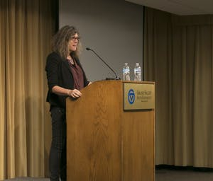 GVL/Hannah Zajac-- Transgender Day of Remembrance with keynote speaker Dr. Susan Stryker in Kirkhoff on Monday 13 Nov 2017.
