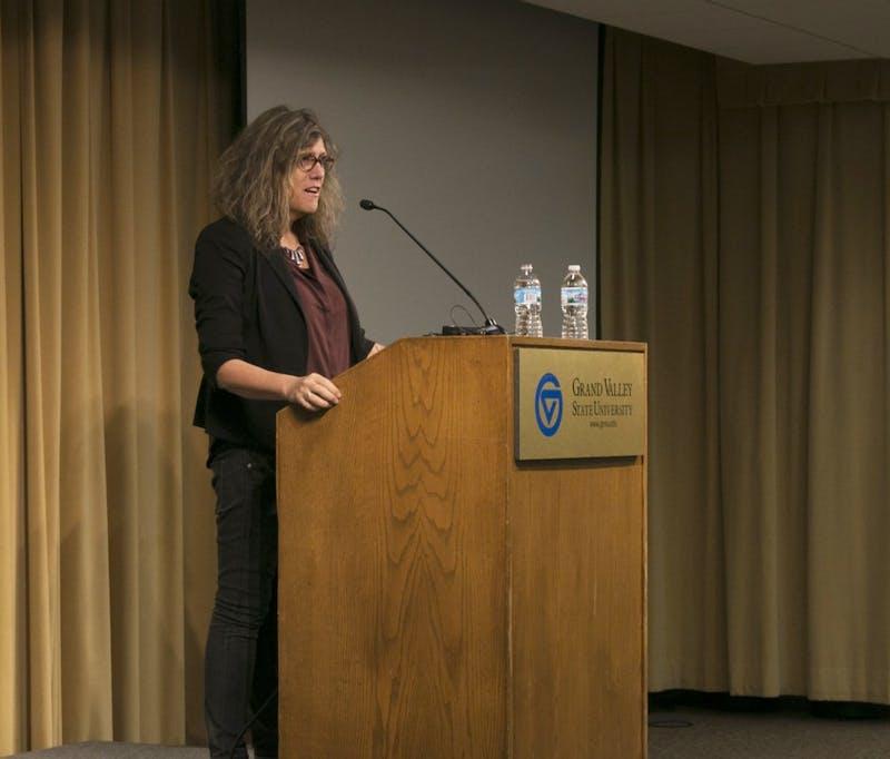 GVL/Hannah Zajac-- Transgender Day of Remembrance with keynote speaker Dr. Susan Stryker in Kirkhoff on Monday 13 Nov 2017.
