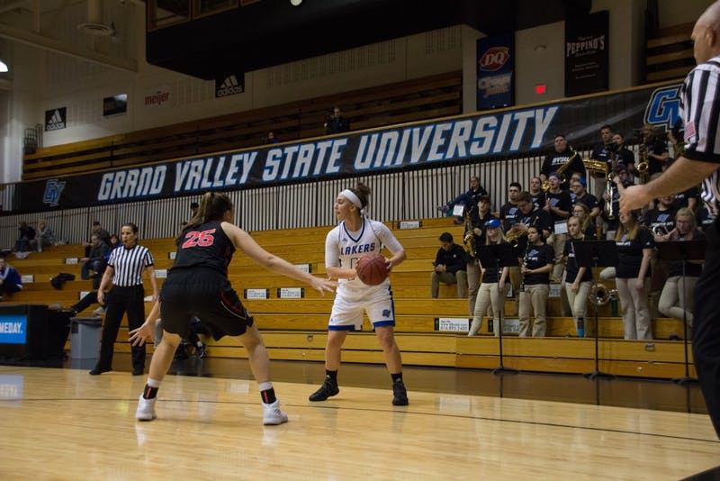 GVL / Dylan McIntyre. Taylor Parmley. Grand Valley Basketball on Sunday, Nov. 19, 2017.