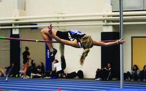 GVL / Archive Junior high jumper Alisha Weaver at the 2012 GVSU Big Meet