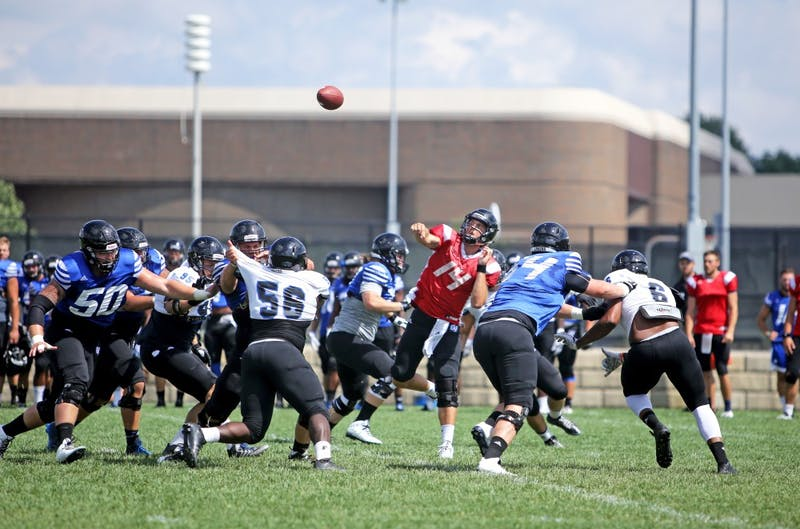 GVL / Emily Frye  Grand Valley State Laker Football on Wednesday Aug. 17, 2016.