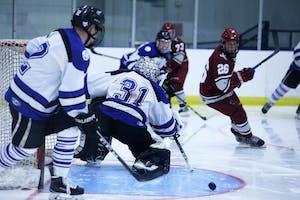 GVL / Emily FryeGVSU D2 Hockey vs Indiana University of Pennsylvania on Friday September 22, 2017.