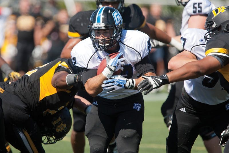 Courtesy / Doug Witte Junior Michael Ratay rushing the ball against Ohio Dominican.