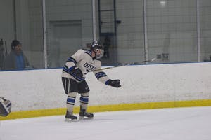 GVL / Dylan McIntyre. Saturday, January 13, 2018. Grand Valley D3 hockey faces off with MSU Saturday night.