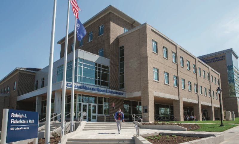 The five-story building houses 16 teaching laboratories and 90 faculty and staff offices.   Courtesy / Grand Valley State University