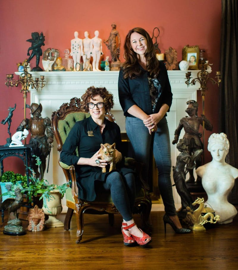 """GVL / Courtesy - Renee Zettle-Sterling / GVNowRenee Zettle-Sterling (left) and Jen Townsend (right), authors of """"CAST: Art and Objects Made Using Humanity's Most Transformational Process"""""""