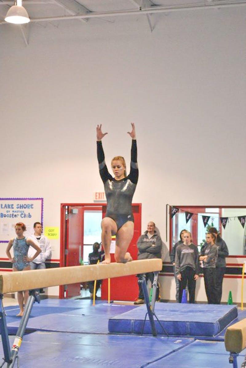 Courtesy Photo / GVSU GymnasticsDanielle Rosenberg performs on the balance beam.