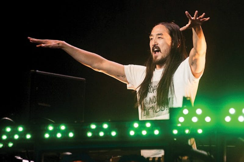 Courtesy / State News / Khoa NguyenSteve Aoki pumps up the crowd Oct. 10, 2013 at Breslin Center at Michigan State University