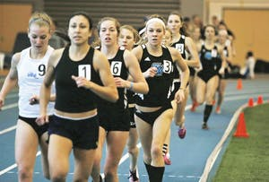 GVL/Archive - Kendra Foley competes during the Mike Lints Invitational on Friday, Jan. 16, 2015 in Allendale.