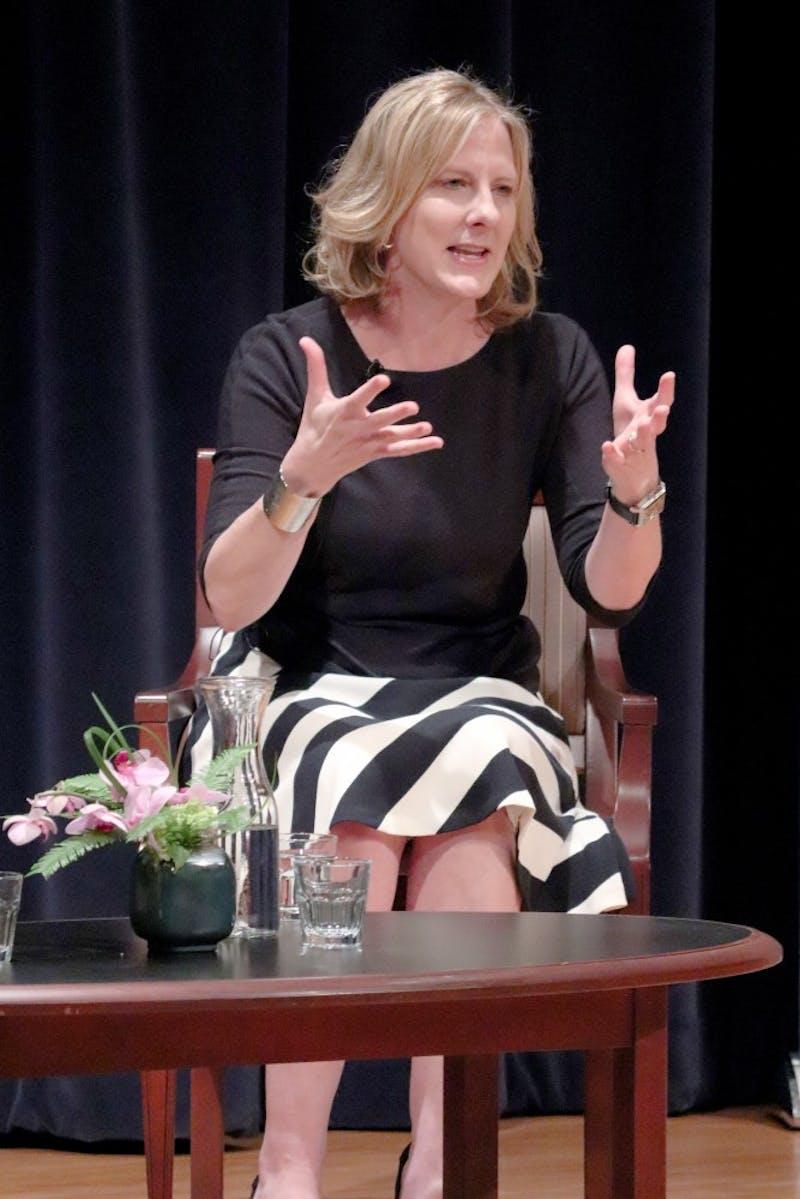 Hauenstein Center hosts dean of Yale Law School, Heather Gerken on September 18th, 2018 in the Richard M DeVos Center Loosemore Auditorium. GVL/Katherine Vasile