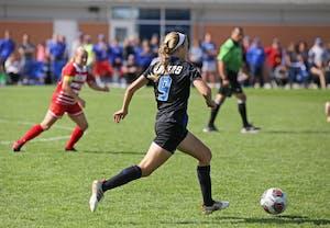 Madz Ham during the game against Ferris State University on Sunday October 1, 2017. GVL / Emily Frye