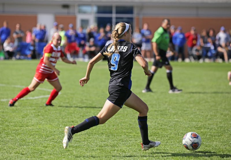 Madz Ham during the game against Ferris State University on Sunday October 1, 2017.  GVL / Emily Frye
