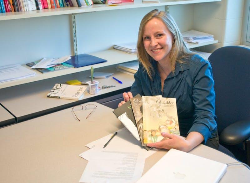 Caitlin Horocks, the faculty advisor for the fishladder