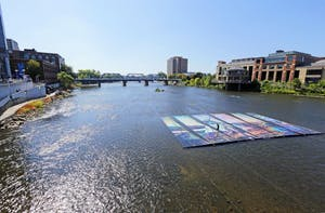 GVL / Emily FryeOil and water artwork on Sunday September 24, 2017.