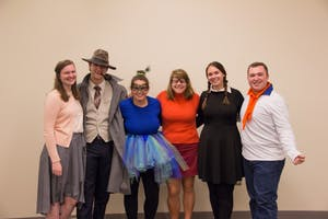 "GVL / Dylan McIntyre. On Thursday, October 26th, the swing dance club hosted their ""Spooky Swing"" dance. The swing dance club Eboard members dressed in their Halloween attire for the ""Spooky Swing"" dance."