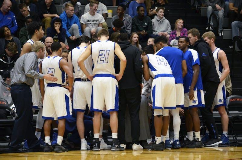GVL / Robbie Triano GVSU Men's Basketball vs Davenport University on Saturday December 2, 2017.