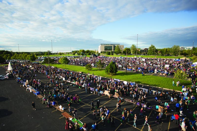 GVL/Kevin SielaffCampus Life Night takes place Sept. 13 on the grounds of parking lot H at Grand Valley's Allendale campus.
