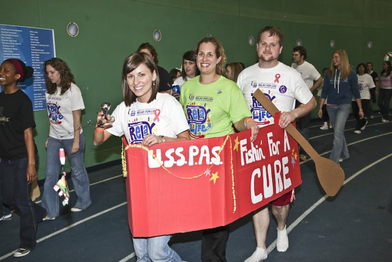 "Relay for Life 2010, organized by Colleges Against Cancer, had a theme of ""sailing towards a cure."""