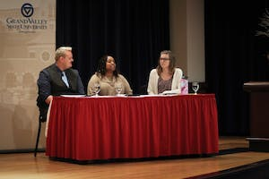 GVL / Sheila BabbittRepresentatives from the Manasseh Project speak out against human trafficking in Michigan after the viewing of the movie Break the Chain on March 15th, 2018.