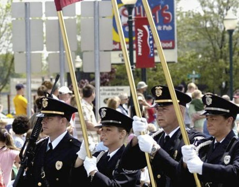 Courtesy Photo / Grand Rapids PressThe Walker Police Honor Guard participates in the 2008 Memorial Day Parade along Lake Michigan Drive. Sunny skies and a cool breeze graced the parade route as thousands turned out to honor those who serve, and have served their country.  (Press Photo/Dave Raczkowski)(Press Photo/Dave Raczkowski)
