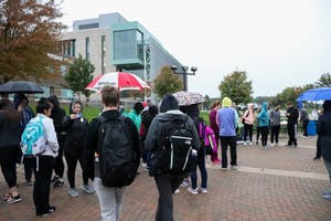 Wellness walk, 10/5/2018, Cook Carillon Tower.  GVL / Katherine Vasile