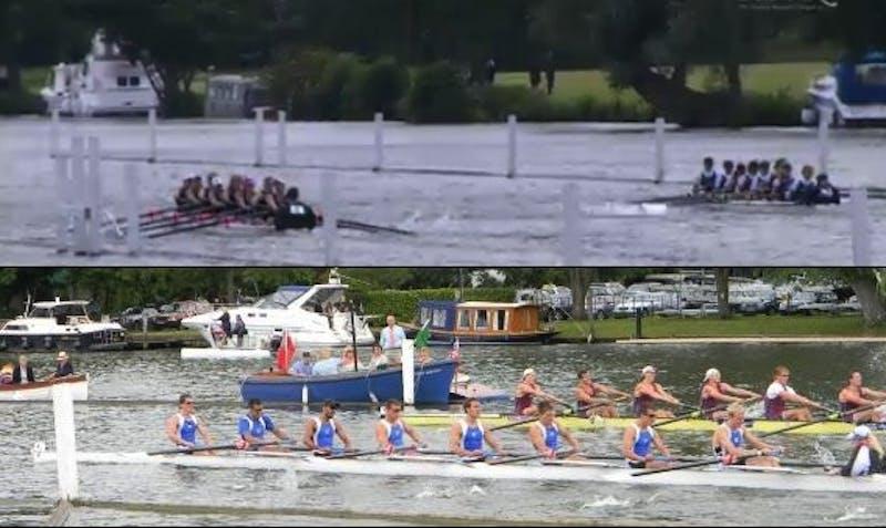 GVSU rowing in England