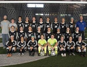 GVL / Courtesy - GVSU Club SportsWomen's club soccer team