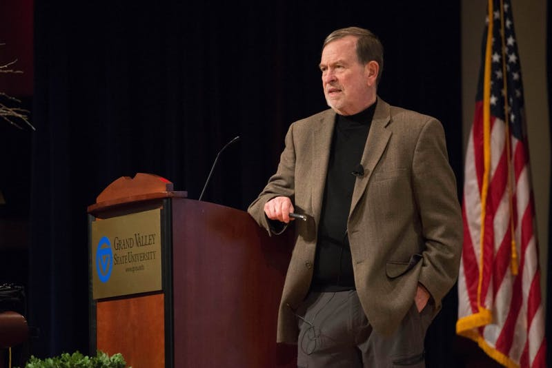GVL / Luke Holmes -  Thomas Meyer held a lecture in the Loosemore Auditorium on Thursday, Mar. 23, 2016.