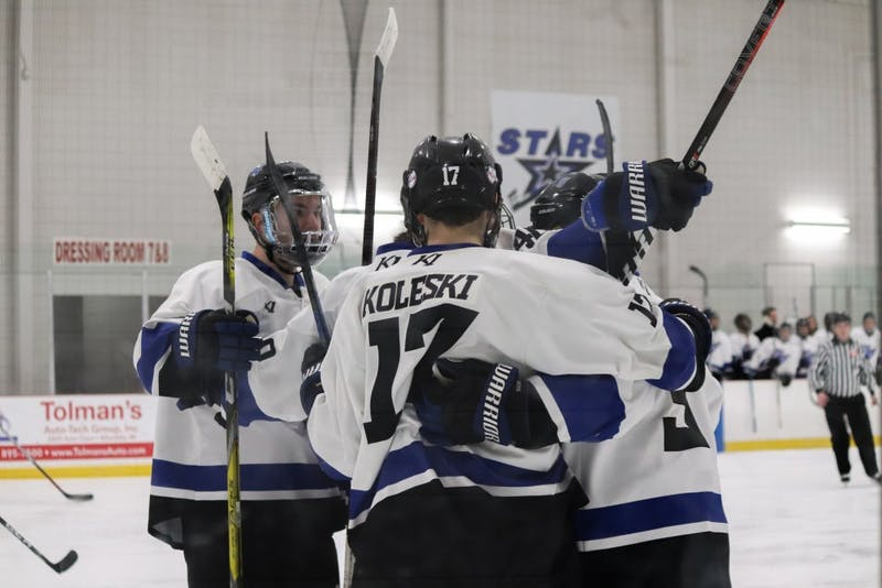 GVL/Katherine Vasile, 2/16/19, Georgetown Ice Center, GVSU Men's Hockey vs Aquinas College