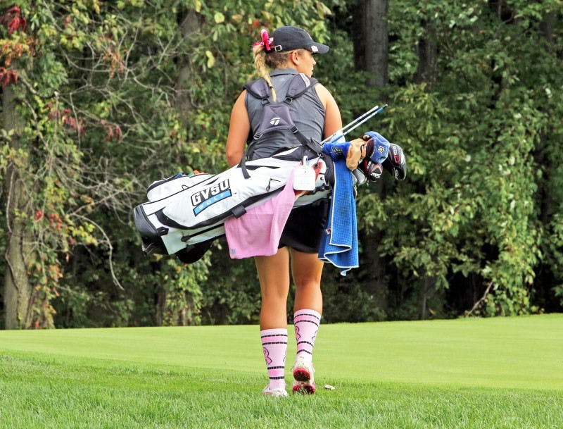 GVL / Emily FryeAlex Taylor during the breast cancer golf match during the 2015-2016 season on Sunday March 16, 2016.