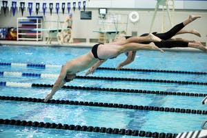 GVL / Emily Frye    Danny Abbott during the Black and Blue Meet on Saturday Oct. 6, 2016.