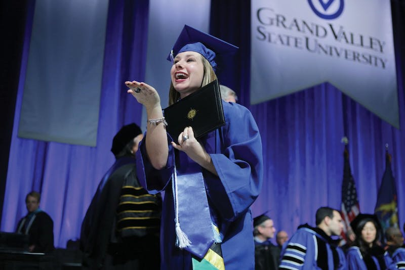 GVL / Emily Frye   Kailee Harris during GVSU Commencement on Saturday December 9, 2017.